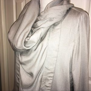 NWT Life in Progress draped hoodie gray jacket -M